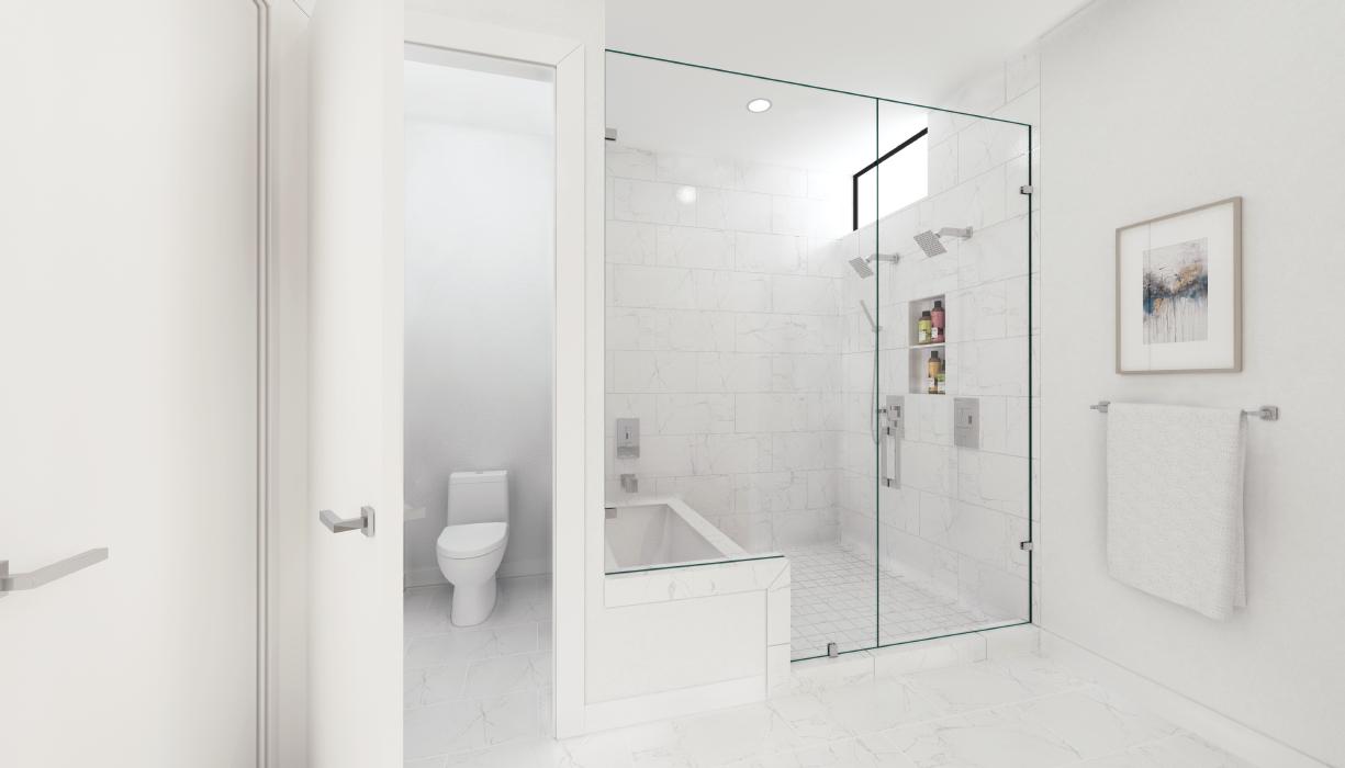 Bathroom render SU Podium